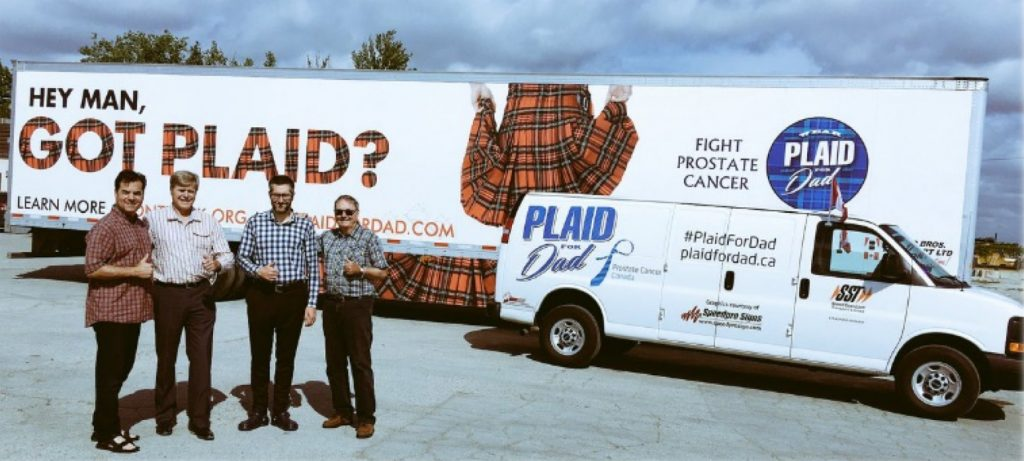 go plaid for dad and trucks for change